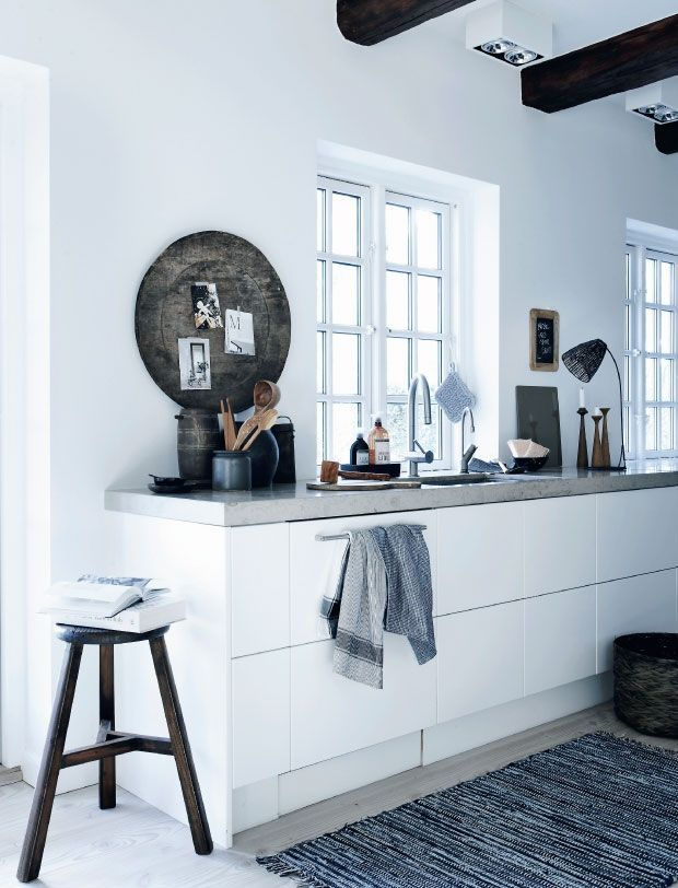 Scandinavische Keuken : Concrete Kitchen Top