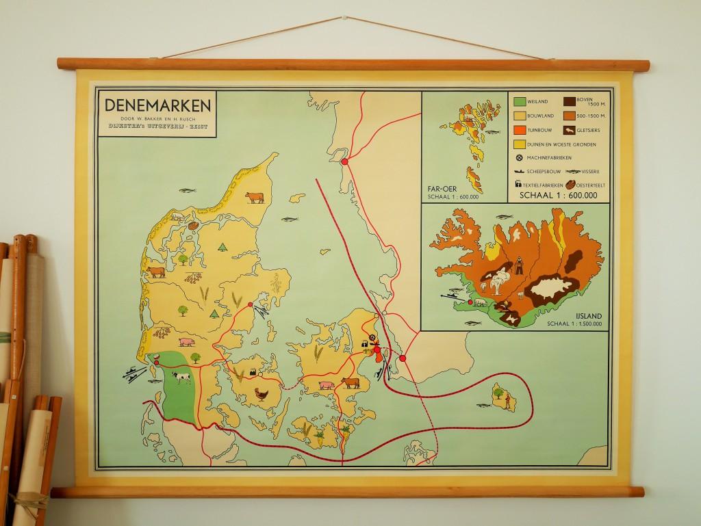 vintage landkaart viva la vintage