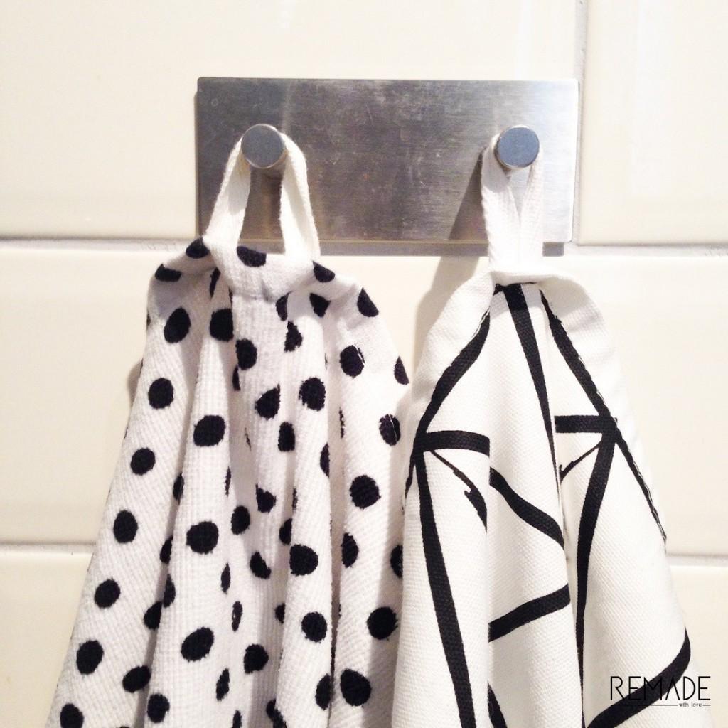 Theedoek Zwart Wit.Zwart Wit Keuken Theedoeken En Handdoeken Remade With Love
