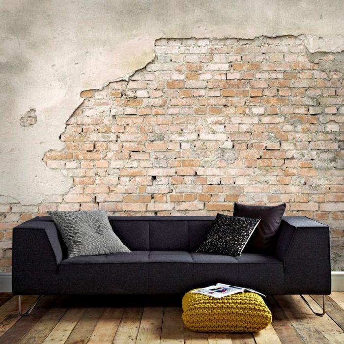 baksteen behang industrieel
