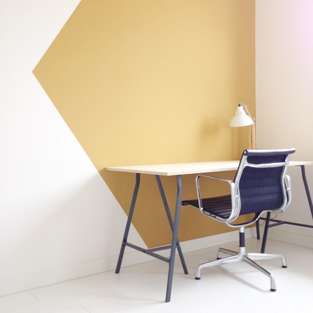 werkkamer flexa okergoud okergeel