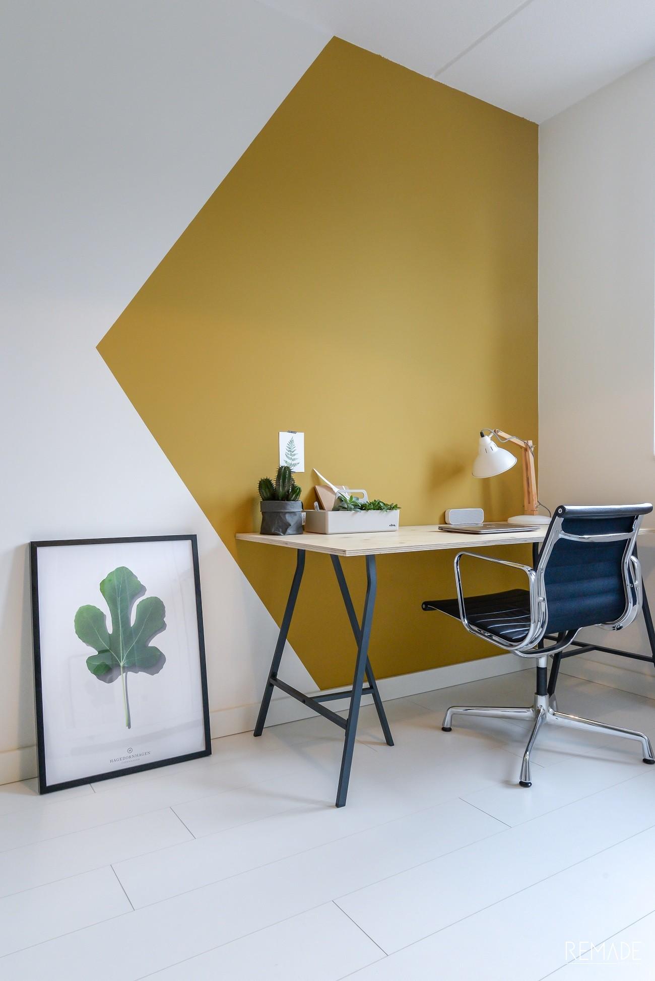 werkplek inrichten werkkamer geometrisch vlak