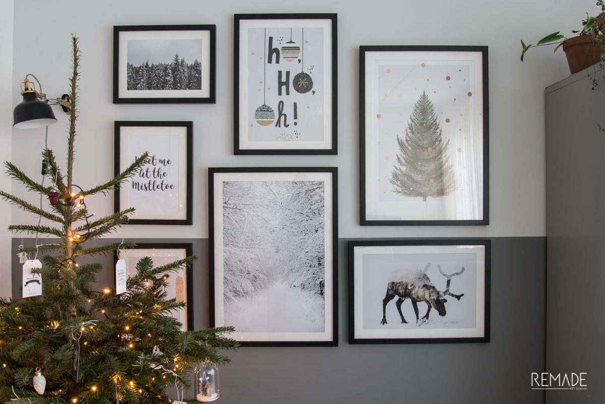 kerst zwart wit scandinavische kerst juniqe posters