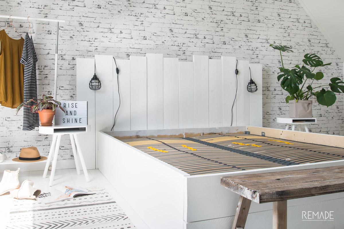 Fabulous Steigerhouten bed zelf maken | REMADE with love WE68
