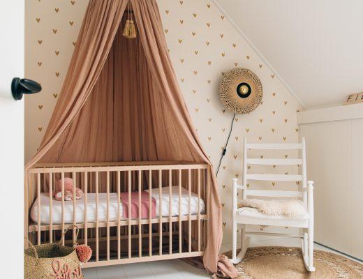 babykamer inspiratie oud roze accessoires hemeltje